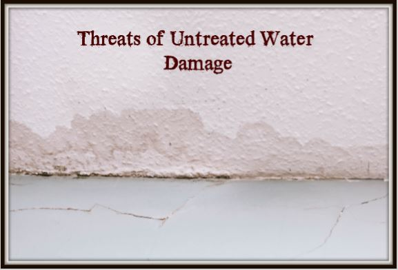 Threats of untreated water damage
